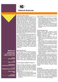 Network Sciences